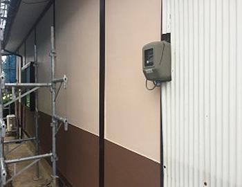 1階漆喰壁面 施工後