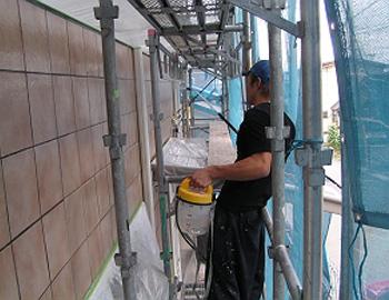 タイル面(撥水剤を塗布)