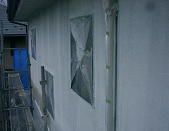 2階外壁(下塗り)