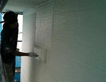 外壁(上塗り2回目)
