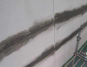 外壁面(セメントを塗り付け)