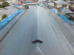 横長尺トタン屋根塗装後
