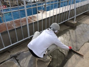 シンダーコンクリート補修