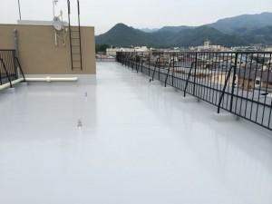 屋上ウレタン防水工事完了