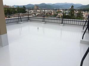 屋上ウレタン塗膜防水完了