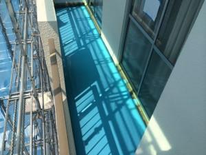 バルコニーウレタン塗膜防水塗布