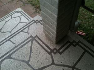 玄関柱周り オリジナルデザイン