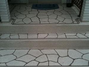 山形県山形市Y様邸|玄関土間のスプレーコンクリート事例