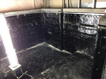 山形市の某病院浴室|アスファルト防水熱工法の事例