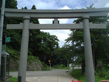 山形県の公共工事|猿羽山大鳥居改修工事