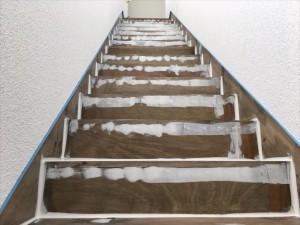 階段部の下地処理
