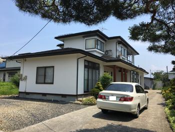 山形県中山町N様邸|高耐候性フッ素樹脂塗料・木柱漂白+着色塗装