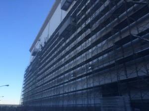某大型倉庫外壁防水工事