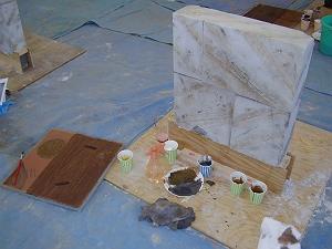 エイジング技法で塗装