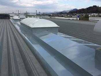 山形県山形市T工場トップライト防水工事|アクリルゴム防水工事