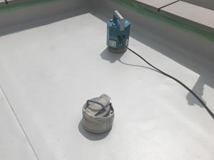 平場 機械固定施工中