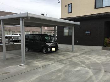 山形県南陽市E様邸|豪雪用カーポート、土間コンクリート打設、フェンス設置工事