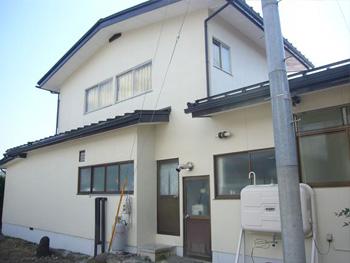 山形県上山市S様邸|築23年木造2階建てのモルタル外壁塗装工事