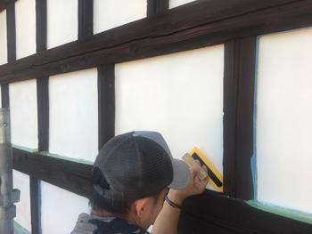 本漆喰塗り