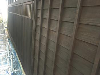 1階雨戸塗装施工後