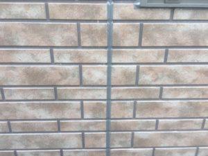 タイル調サイディングクリア塗装後の目地シーリング
