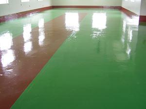 工場床の防塵塗装工事