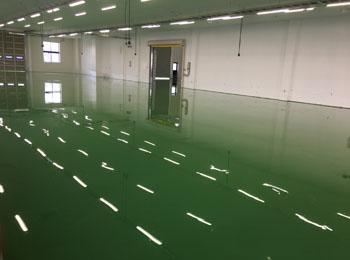 山形市某工場床のエポキシ塗床塗装|ケミクリートE 耐摩耗性塗床