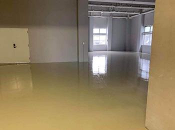 東京都某倉庫|倉庫床エポキシ防塵塗装⼯事|塗床