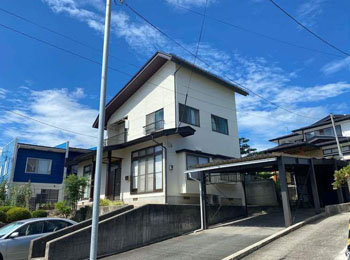 上山市M様邸|屋根葺き替え・外壁塗装⼯事