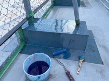 フェンス架台 プライマー塗布