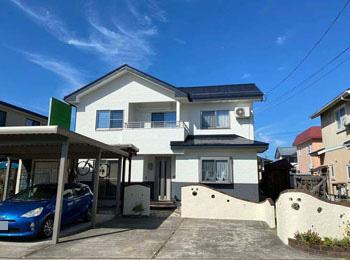 米沢市S様邸|屋根遮熱塗装、外壁ネオフレッシュティアラ塗装