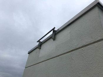 信⽤⾦庫|ゴンドラで外壁を補修塗装⼯事|米沢市