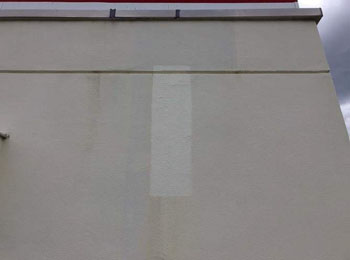 西面外壁補修