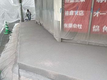 テナント外構スプレーコンクリート
