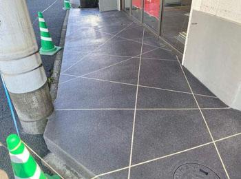K様テナントリニューアル工事|内装タイル、外構スプレーコンクリート工事