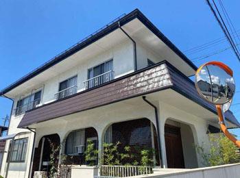 T様邸屋根塗装・板金工事|雪害保険を利用し雨樋交換|山形市