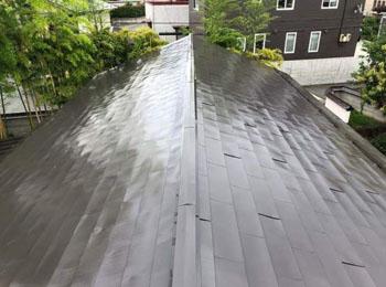I様邸屋根塗装工事|急こう配屋根・足場無し・全面錆止めでしっかり長持ち|山形市